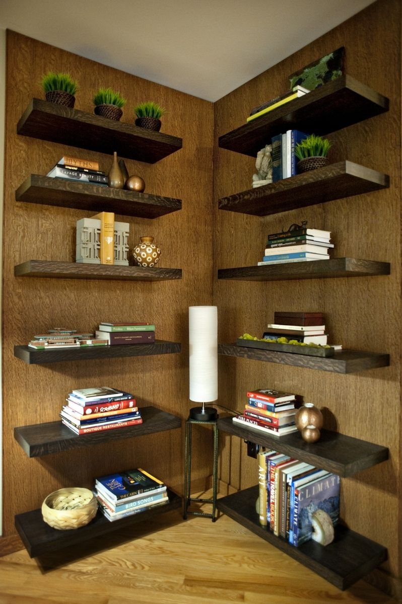 Custom Made Floating Shelf Wall
