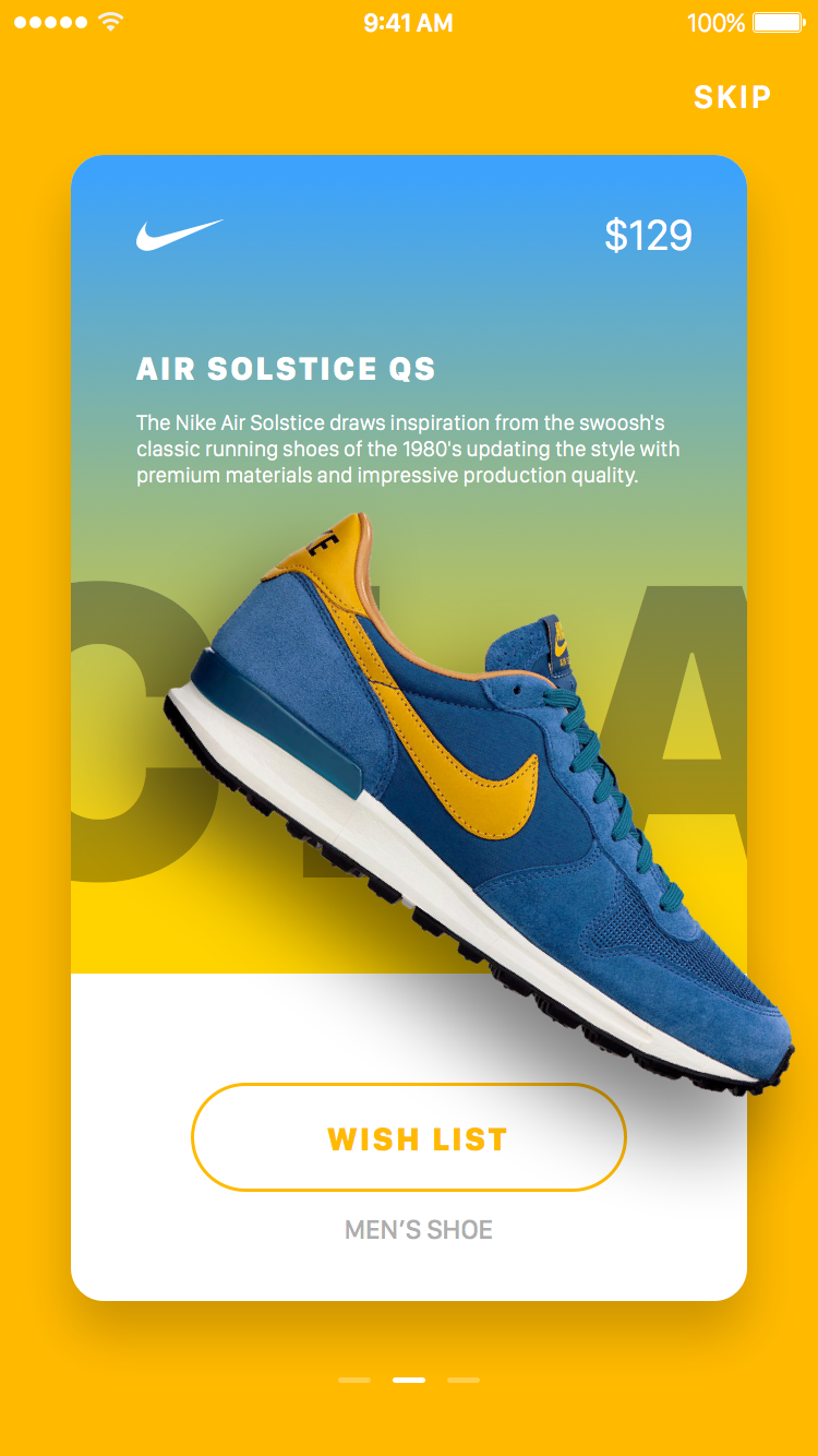 Nike inapp promotions by jardson almeida graphic design