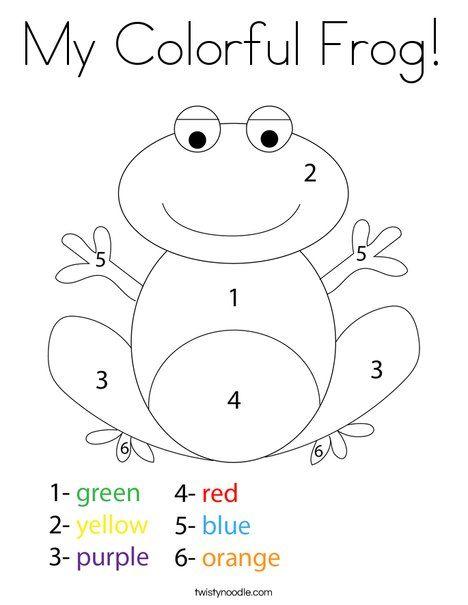 My Colorful Frog Coloring Page Twisty Noodle Preschool Coloring Pages Frog Coloring Fun Worksheets For Kids Frog worksheets for kindergarten