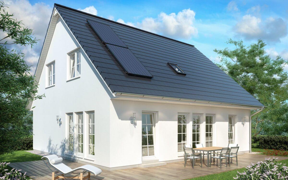 Einfamilienhaus Neubau Modern Im Landhausstil Mit Satteldach