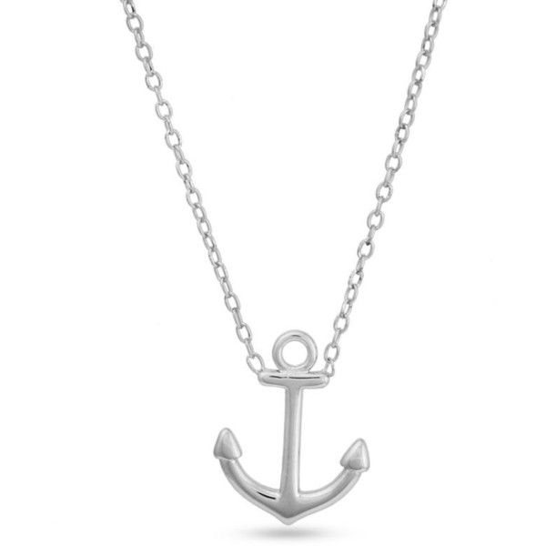 Belk silverworks silver sterling silver anchor pendant necklace 22 belk silverworks silver sterling silver anchor pendant necklace 22 liked on polyvore featuring aloadofball Gallery