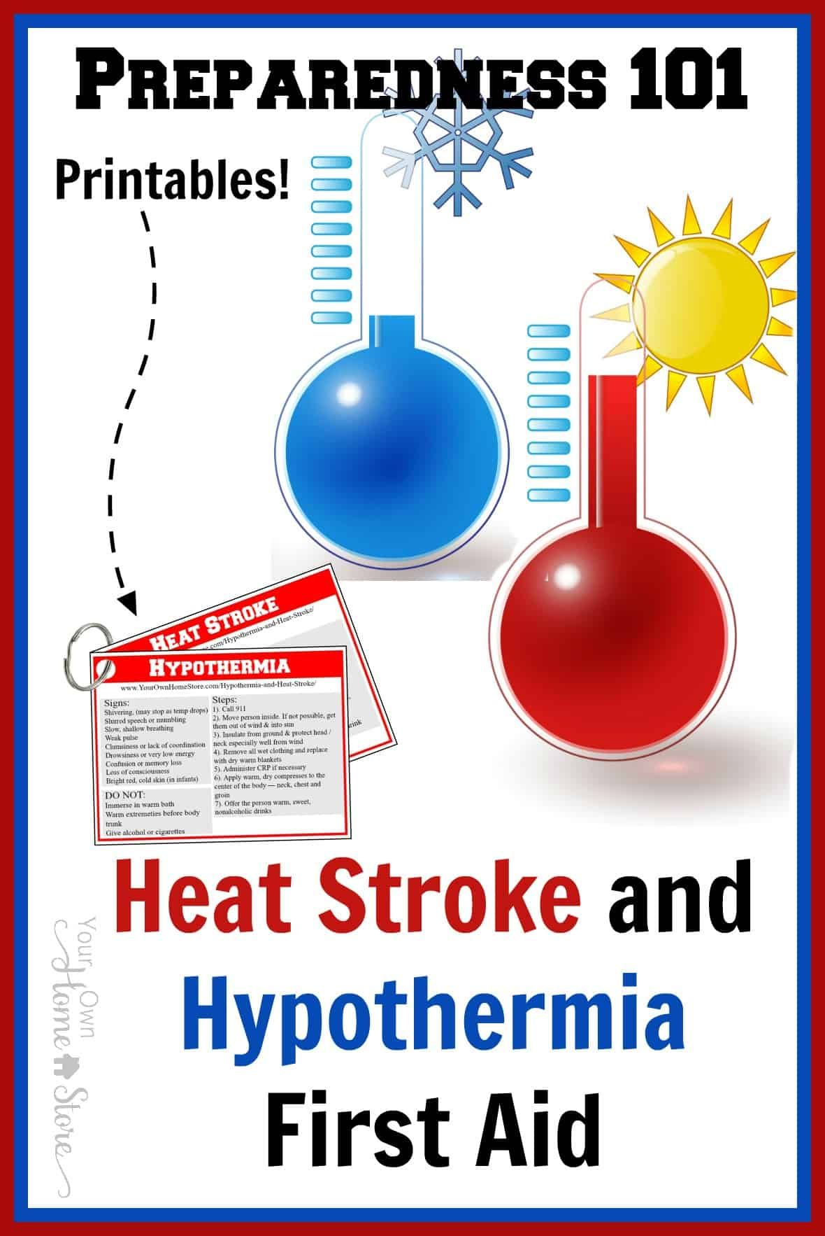 Basic First Aid For Hypothermia and Heat Stroke | Simple Family Preparedness