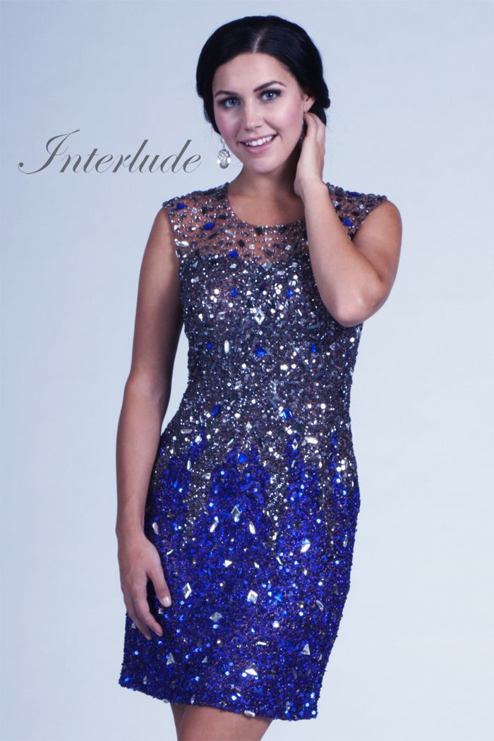 Cocktail Dresses - ... Women / Interlude 9015 Beautifully Beaded ...