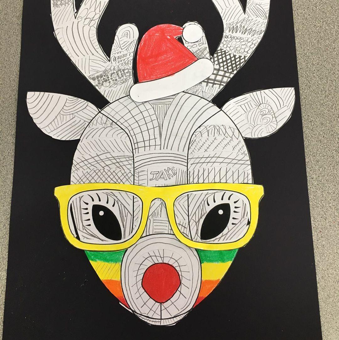 Funky Reindeer Christmas Craft Teachstarter Majelbev Year3 Theteachingsisters Aussietea Reindeer Christmas Gift Christmas Applique Christmas Crafts