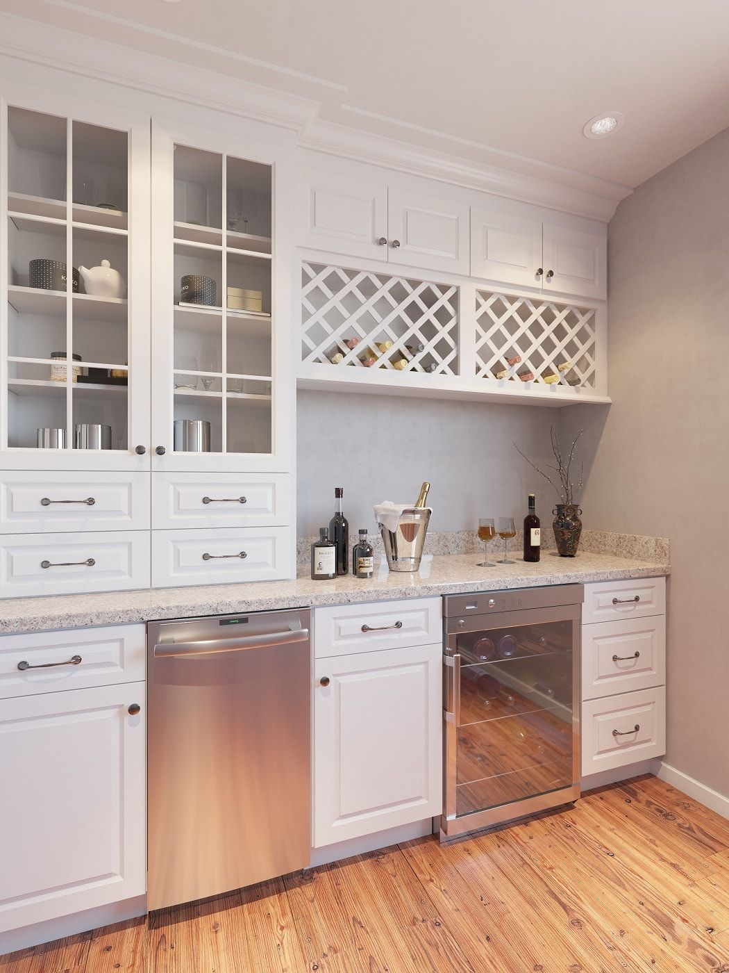 Dakota White - Ready to Assemble Bar Room Cabinets - Bar ...