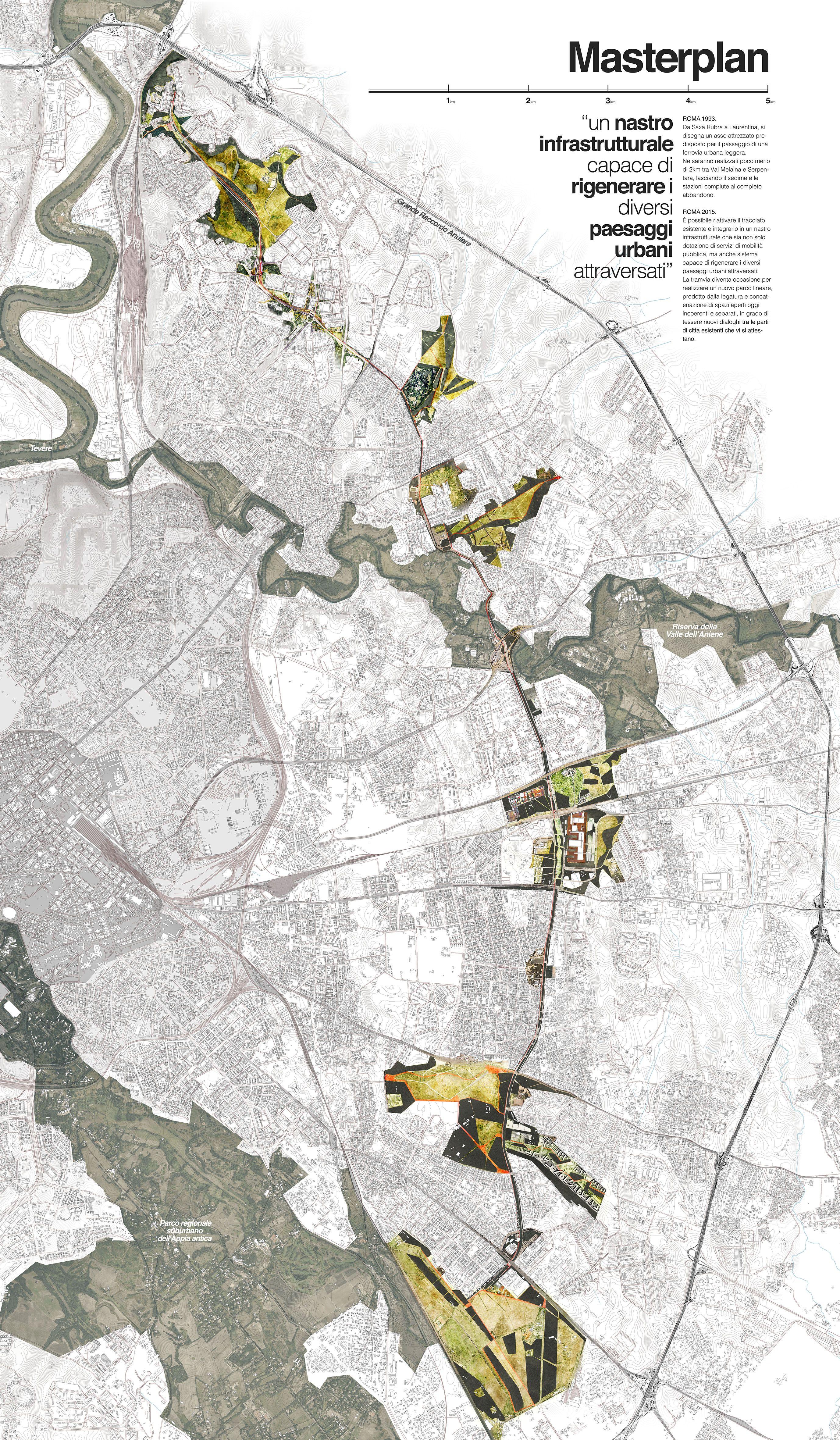 Progetto per la dorsale tranviaria di roma est corridoio for Ufficio decoro urbano comune di roma