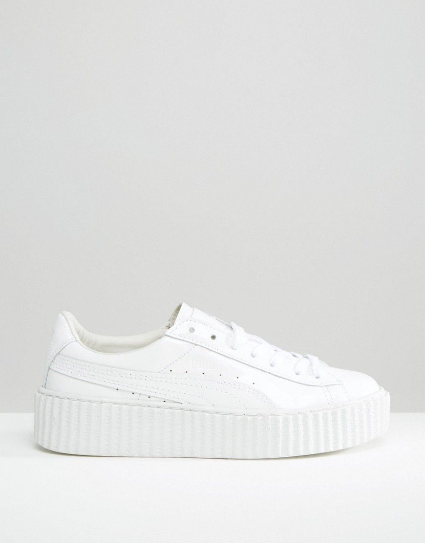 puma x rihanna fenty creeper sneakers in white my fall. Black Bedroom Furniture Sets. Home Design Ideas
