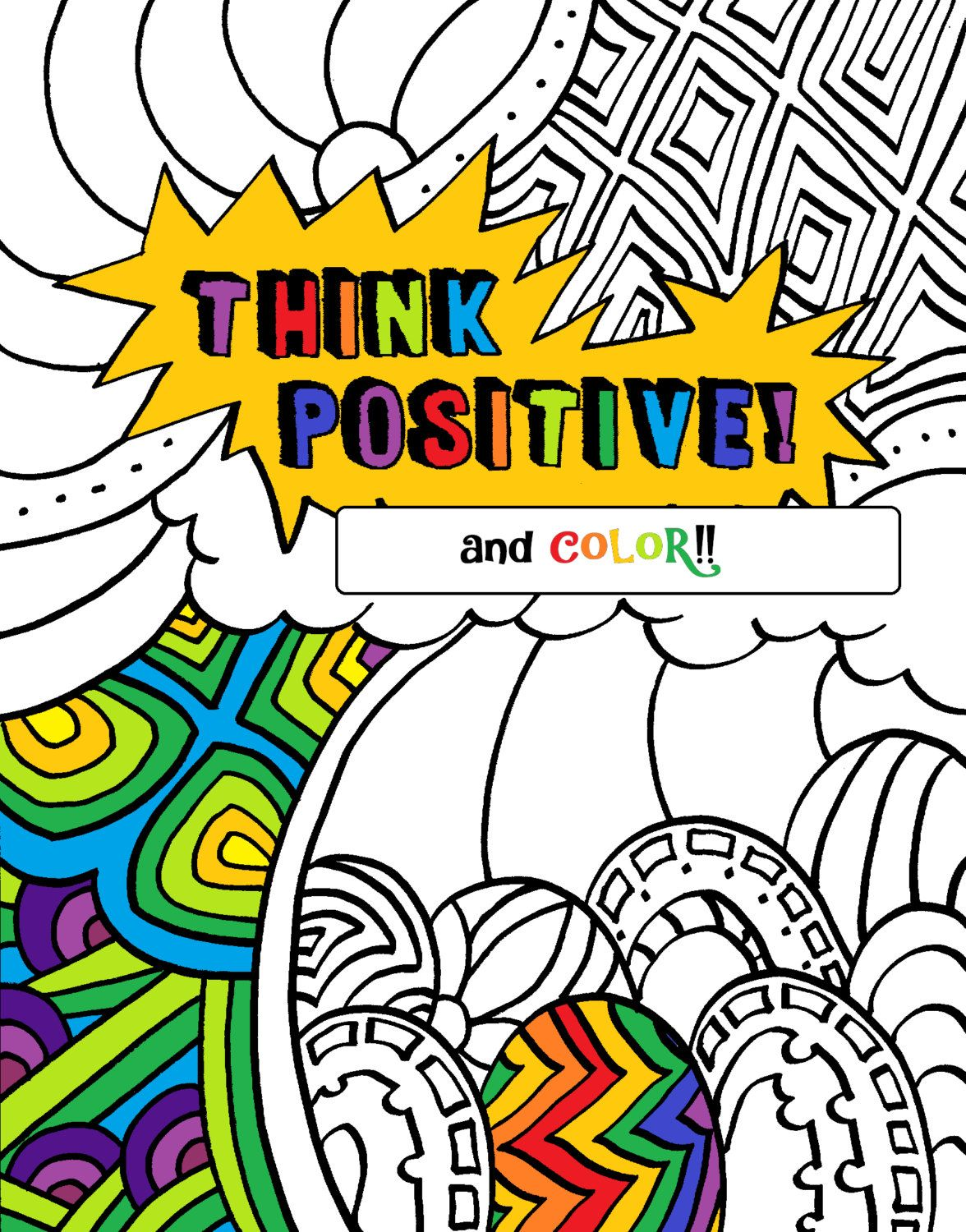 The coloring book of positivity - Positive Words Coloring Book Pages By Lovablelynzi On Etsy
