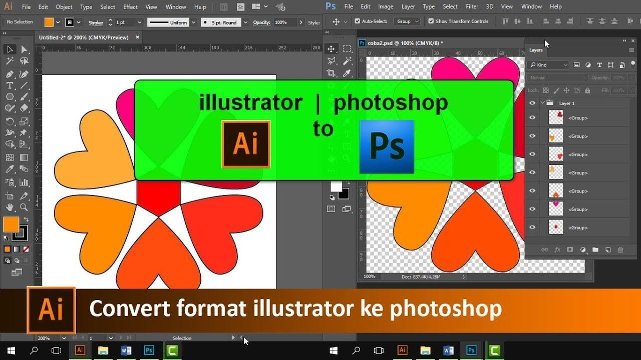 Cara convert format illustrator ke dengan layer