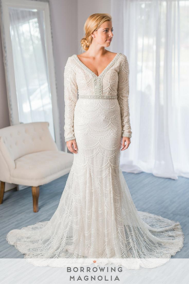Berta Bridal 15 107 Street Size 6 Rent This Long Sleeve Berta Bridal Wedding Gown For Wedding Dress Long Sleeve Rental Wedding Dresses Gatsby Wedding Dress