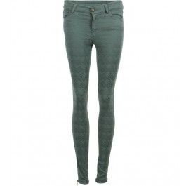 pantalon, jacquard imprimé ethnique, coupe skinny, stretch, fermeture zippée et boutonnée, zip bas de jambe
