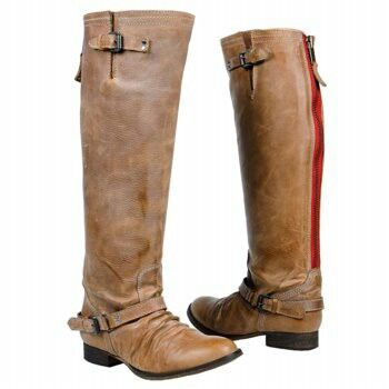diseñador nuevo y usado lo último amplia gama Steve Madden riding boots. Love the red zipper in the back! (With ...