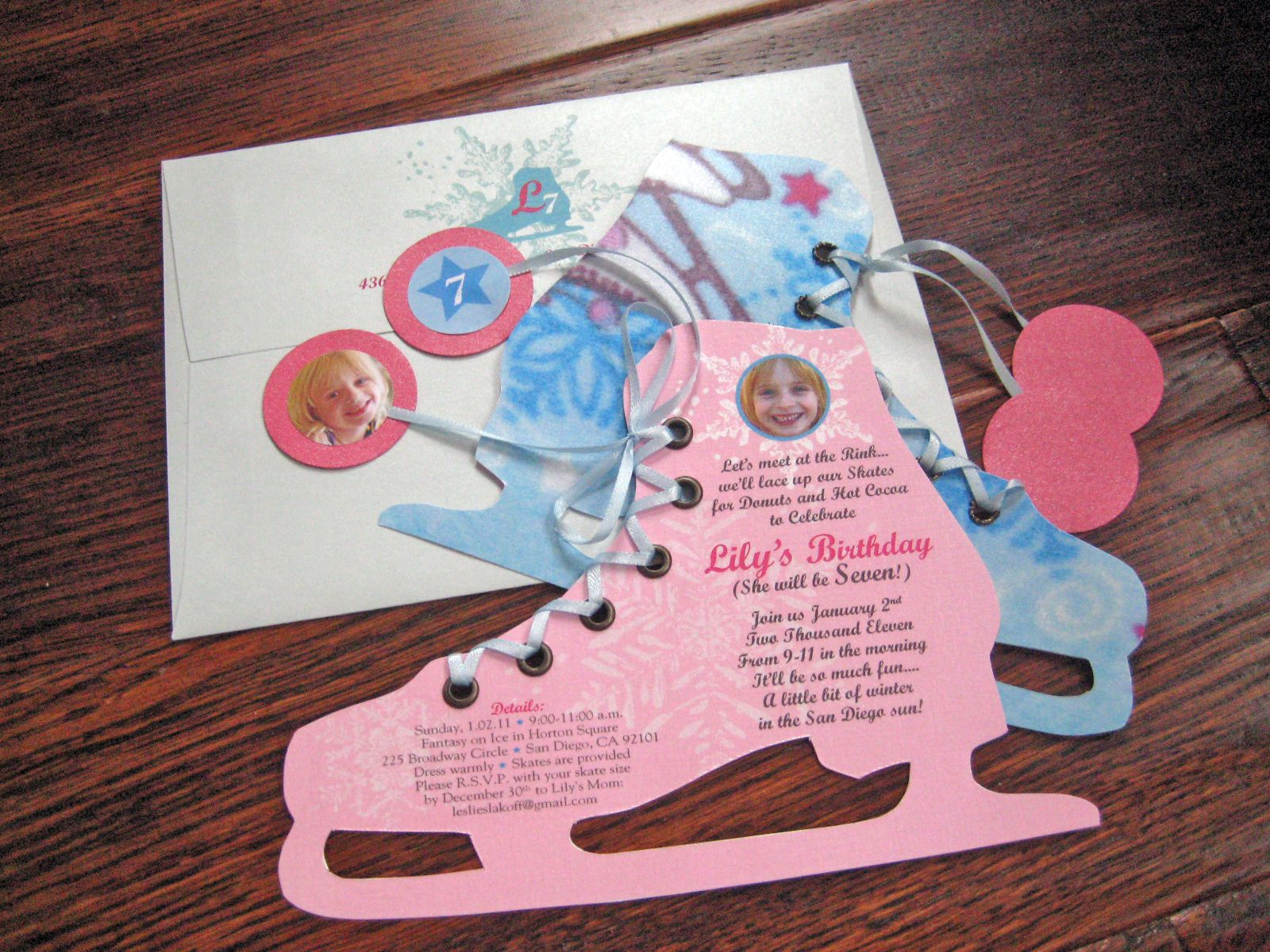 Ice skating party invite | It\'s my party and I\'ll cry if I want to ...