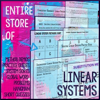 Systems of Equations Package (Linear Systems) | Pinterest | Linear ...