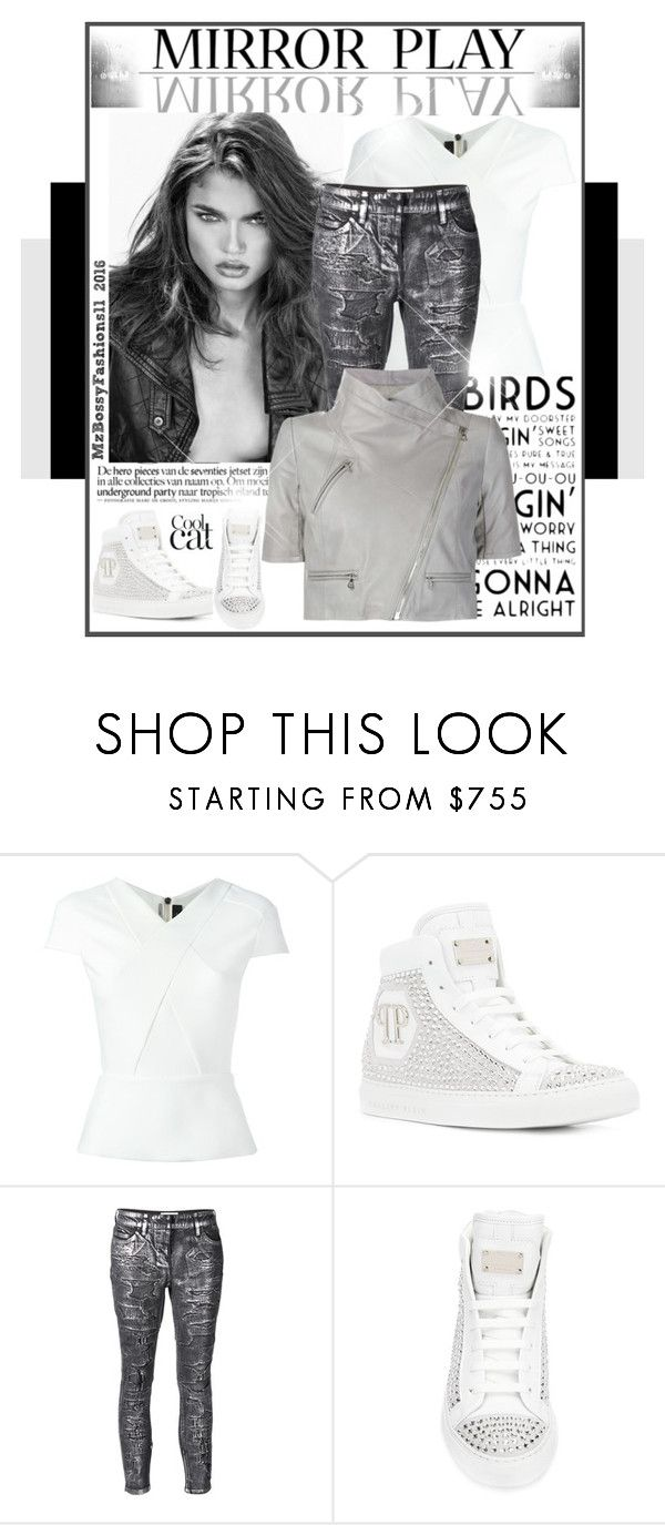 """""""MIRROR PLAY"""" by mzbossyfashions11 ❤ liked on Polyvore featuring Roland Mouret, Philipp Plein, Faith Connexion, Yigal AzrouÃ«l, women's clothing, women, female, woman, misses and juniors"""