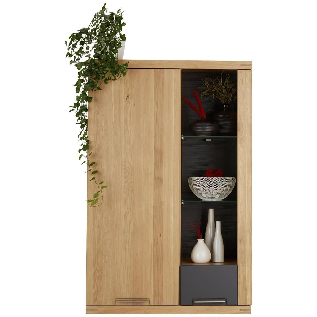 Sideboard 100 Cm Breit Hängeelement Graphit Eiche In 2019 Kommoden Und Sideboards
