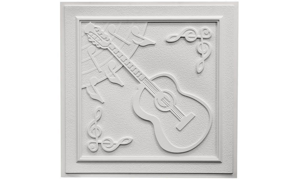 Guitar Ceiling Tile - White | Decorative ceiling tile ...