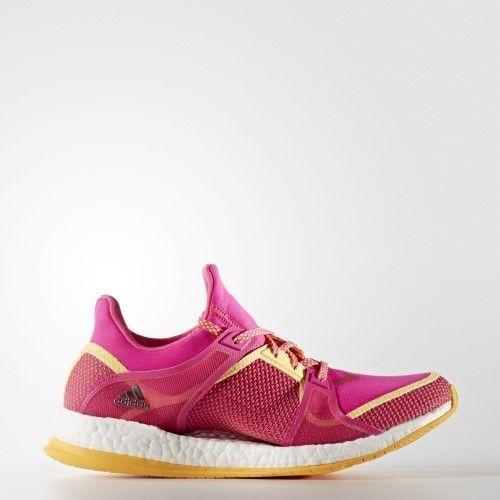 78f6ec1403 adidas Women's Pure Boost X TR Cross-Trainer Shoe, Shock Pink/Neon ...