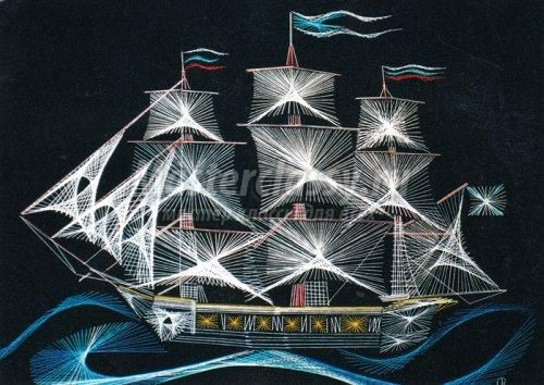 Изонить схемы кораблей