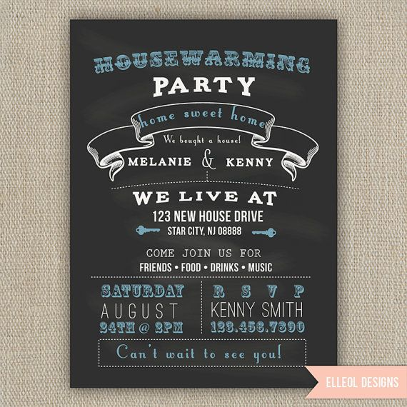 For Grand Opening Invitation Chalkboard Style Printed By Elleol