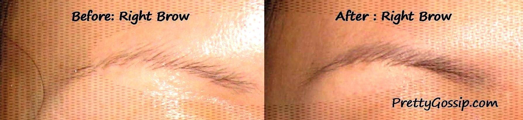 PrettyGossip- Before and After Eyebrow Tattoo- Right Sherrys Studio, LA CA