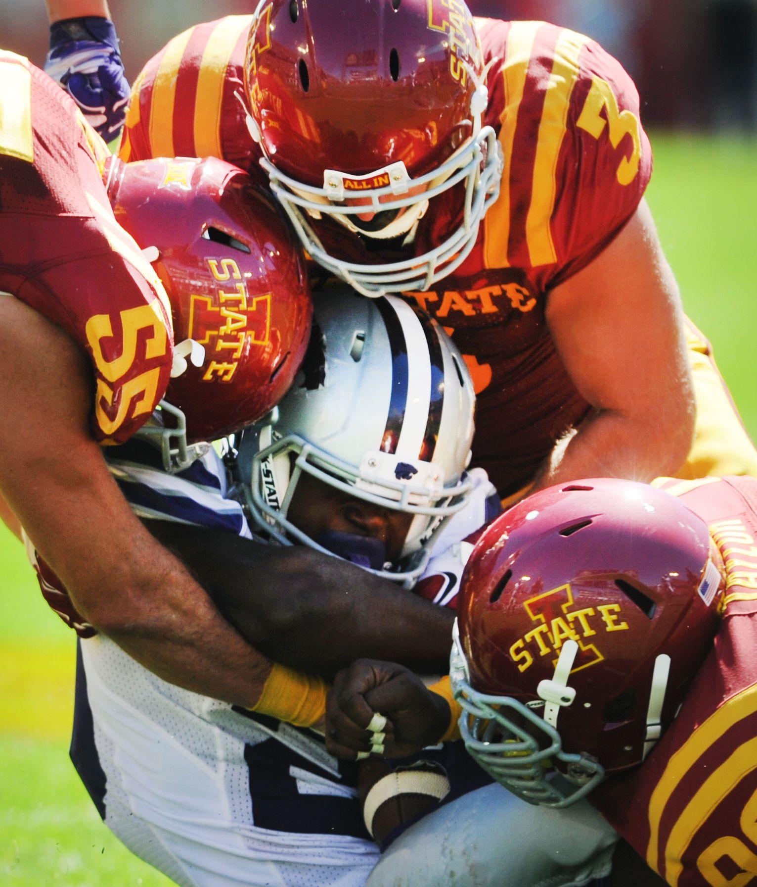 Iowa State Linebacker Jevohn Miller Left Linebacker Drake Ferch