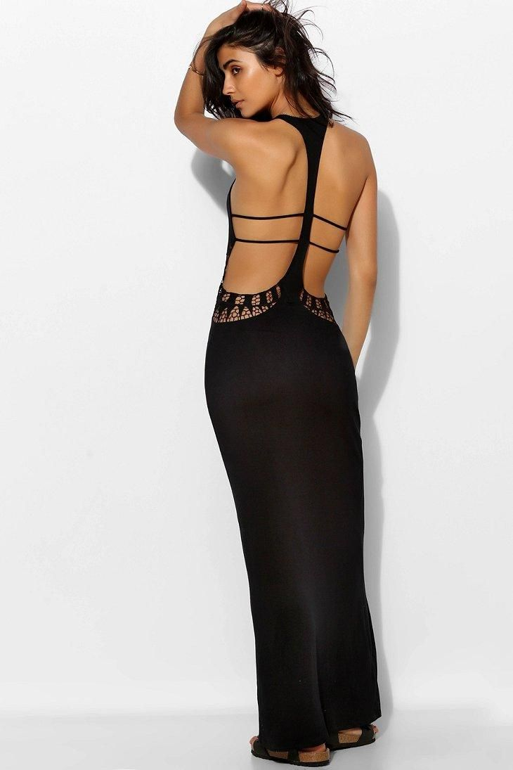 Staring At Stars Crochet Cutout Cover-Up Maxi Dress ...