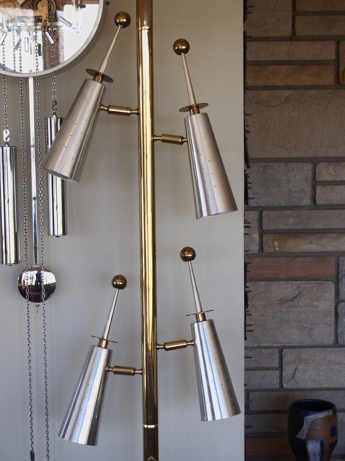 Rare Mid Century Modern Stiffel Futura Tension Floor Lamp Raymond Loewy Mid Century Modern Table Lamps Modern Table Lamp Design Mid Century Modern Lighting