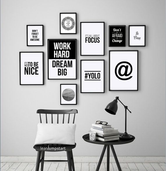 Office Cubicle Decor Cubicle Decor Office Artwork Typographic