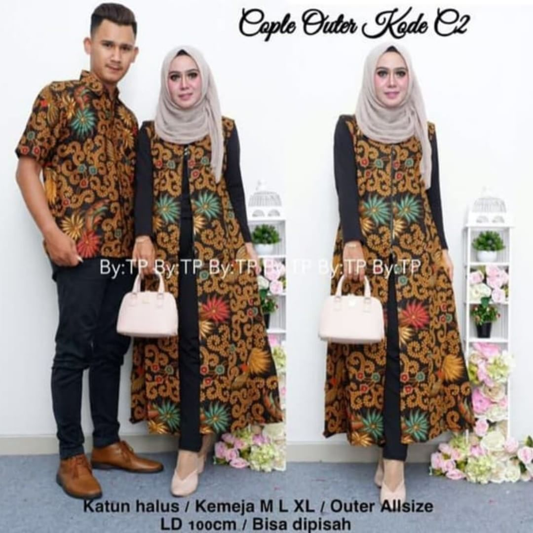 dress batik modern outer manuk Batik couple kebaya modern ini