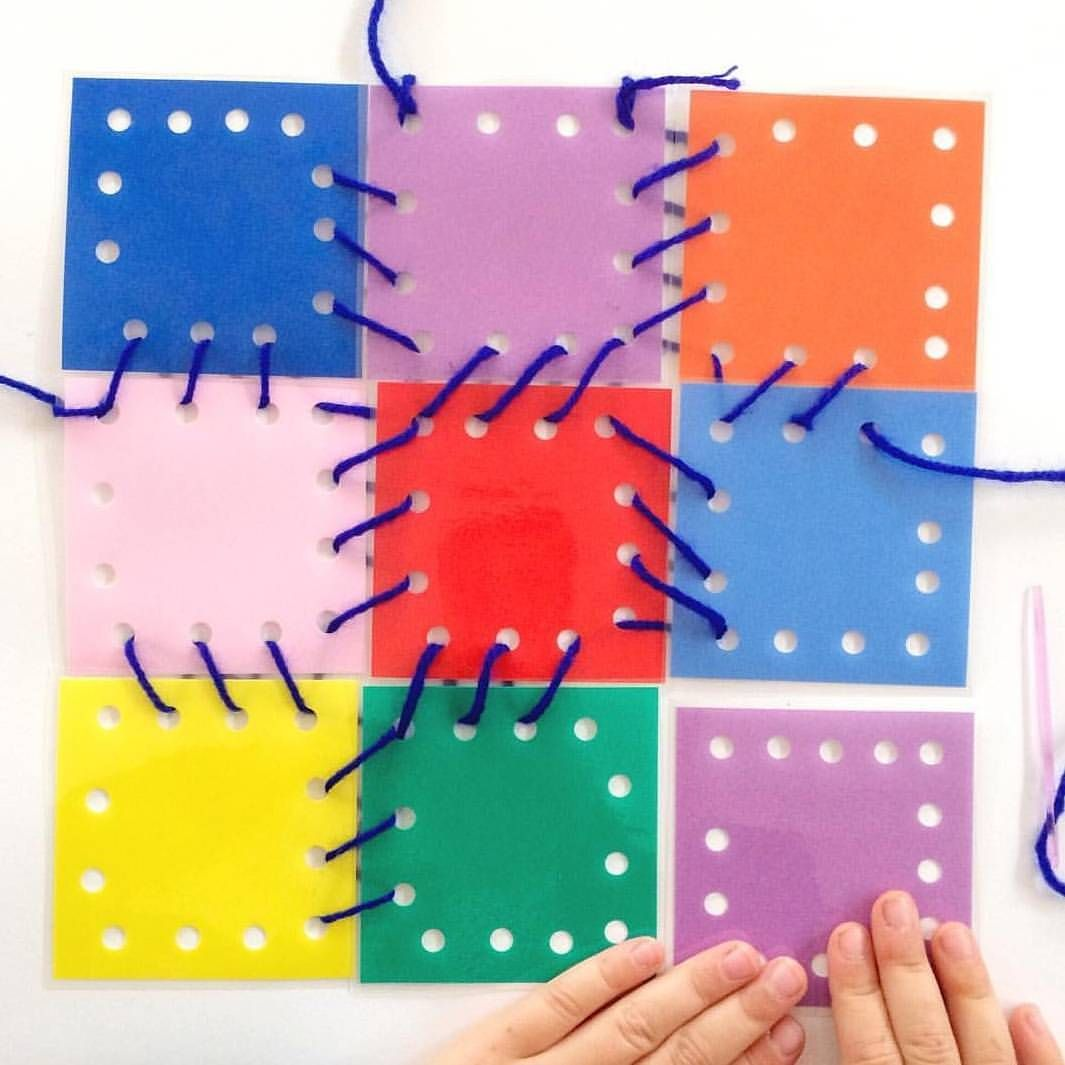 This Stitching Activity Allows The Children To Practice
