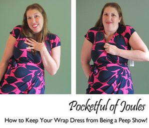 How to Keep Your Wrap Dress From Showing Too Much by JoulesDellinger