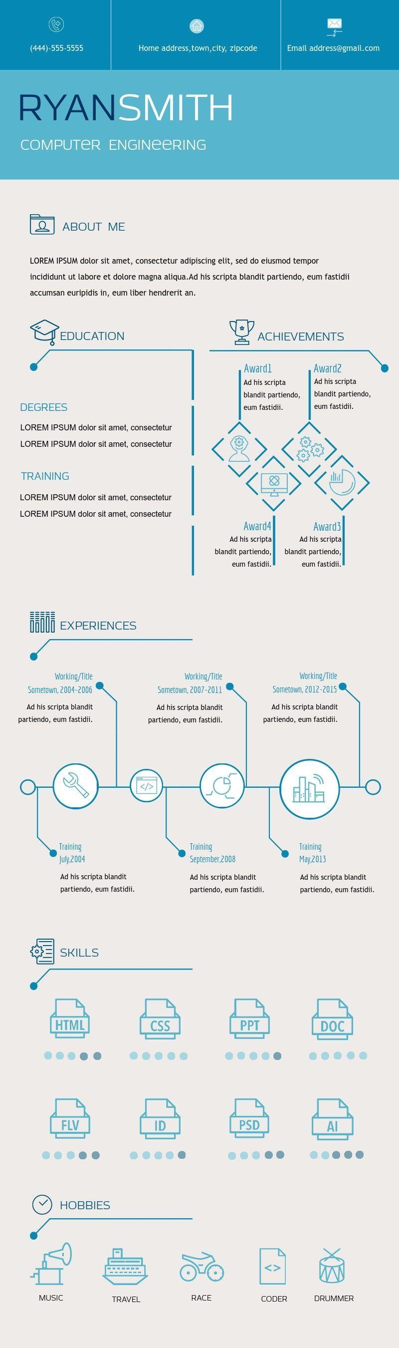 Resume Infographic Templates resume cv infographic