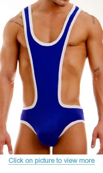 e5db5d20ed2be Modus Vivendi 11281 - 80's Inspired Workout Vintage Wrestling Singlet -  Blue, Red, Yellow, Fucshia and Aqua