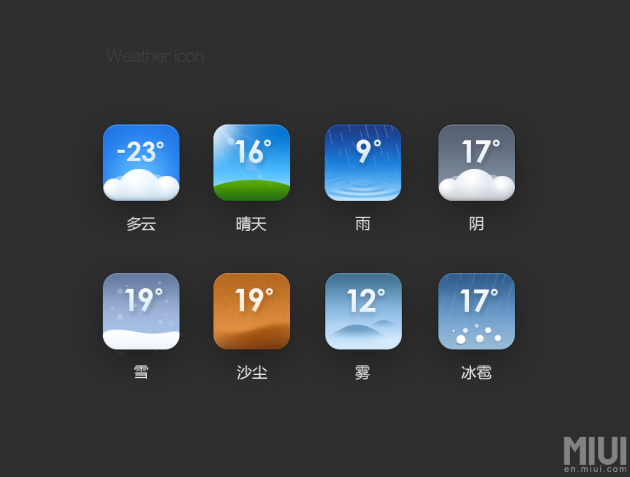 MIUI weather icons
