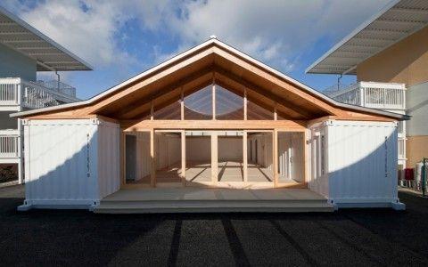 Container Temporary Housing by Shigeru Ban Architects Ozarts Etc - Maison En Bois Sur Pilotis