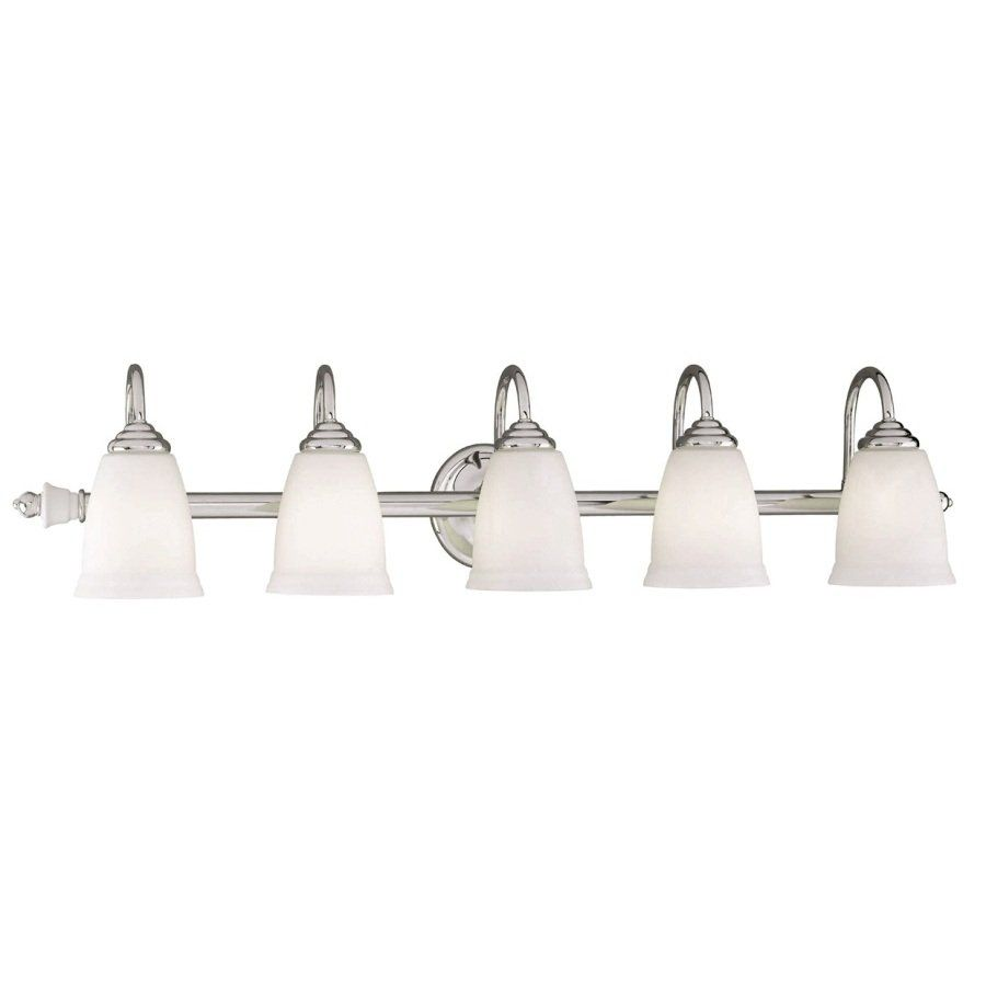 Lowe's Canada Bathroom Vanity Lighting portfolio 5-light polished chrome bathroom vanity light - lowe's