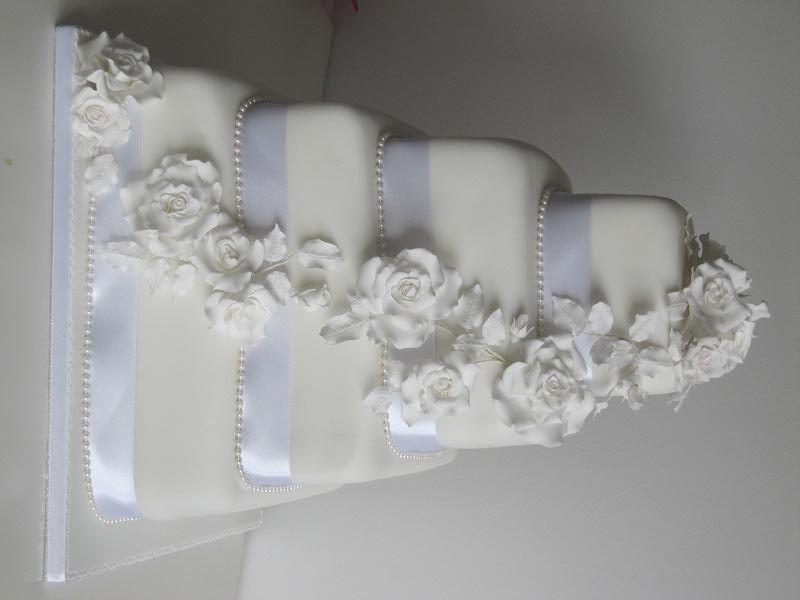 6 tier square wedding cake - Google Search | Wedding Cakes ...