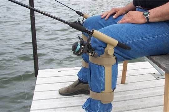 Removable portable ice fishing rod holder system