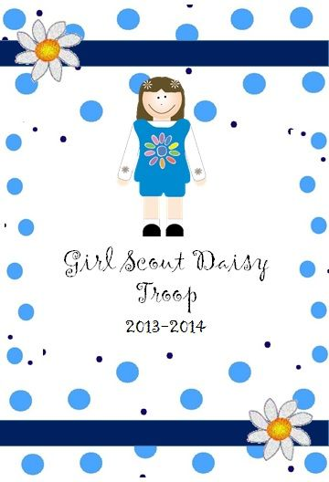 Daisy Girl Scout organizing binder set with calendar for 2013-2014