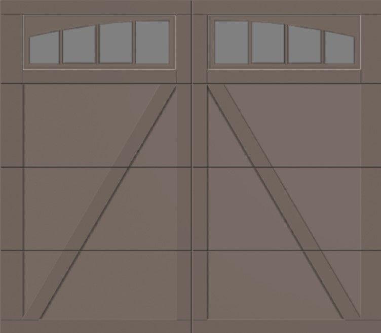 Overhead Garage Doors Courtyard Series 375t With Wyndbridge Arch In Terra Bronze Finish Painted Sw7048 Urb Overhead Garage Door Garage Doors Overhead Garage