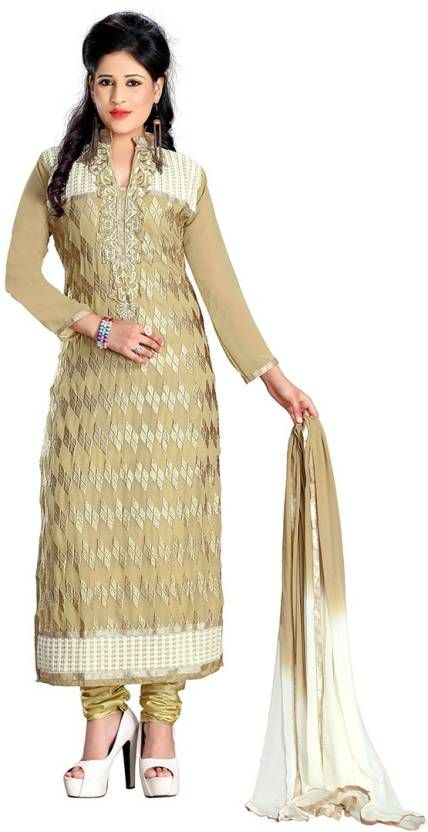 e320c45cae Z Hot Fashion Georgette Embroidered Salwar Suit Dupatta Material ...
