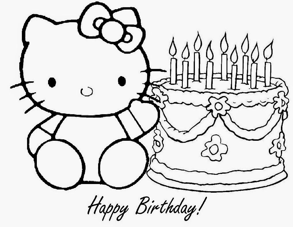 Free coloring pages birthday cake - Hello Kitty Happy Birthday Coloring Pages Girls Coloring Pages Cartoon Coloring Pages Hello Kitty Coloring Free Online Coloring Pages And Printable