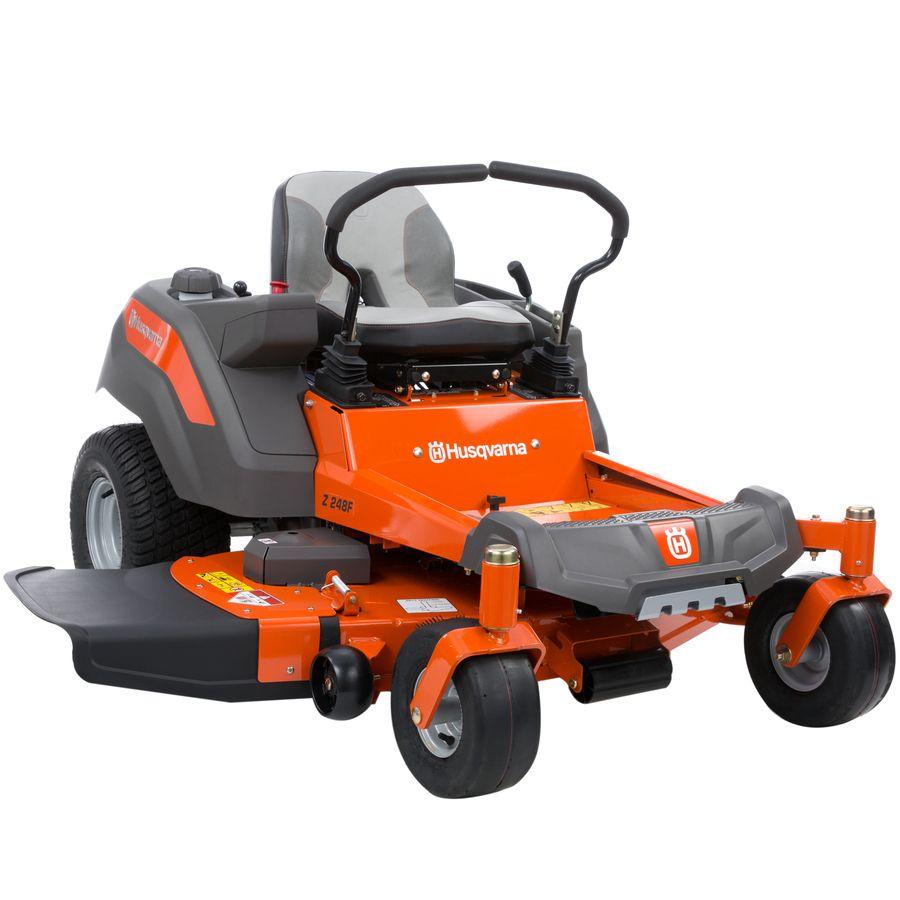 Husqvarna Z248f 21 5 Hp V Twin Dual Hydrostatic 48 In Zero Turn Lawn Mower With Mulching Capability Kit Sold Separately Lowes Com In 2020 Zero Turn Lawn Mowers Lawn Mower Mulching