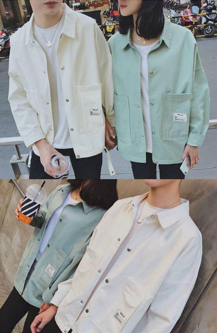 EOW Couple Boxy Jacket  YesStyle  Jackets, Korean fashion street
