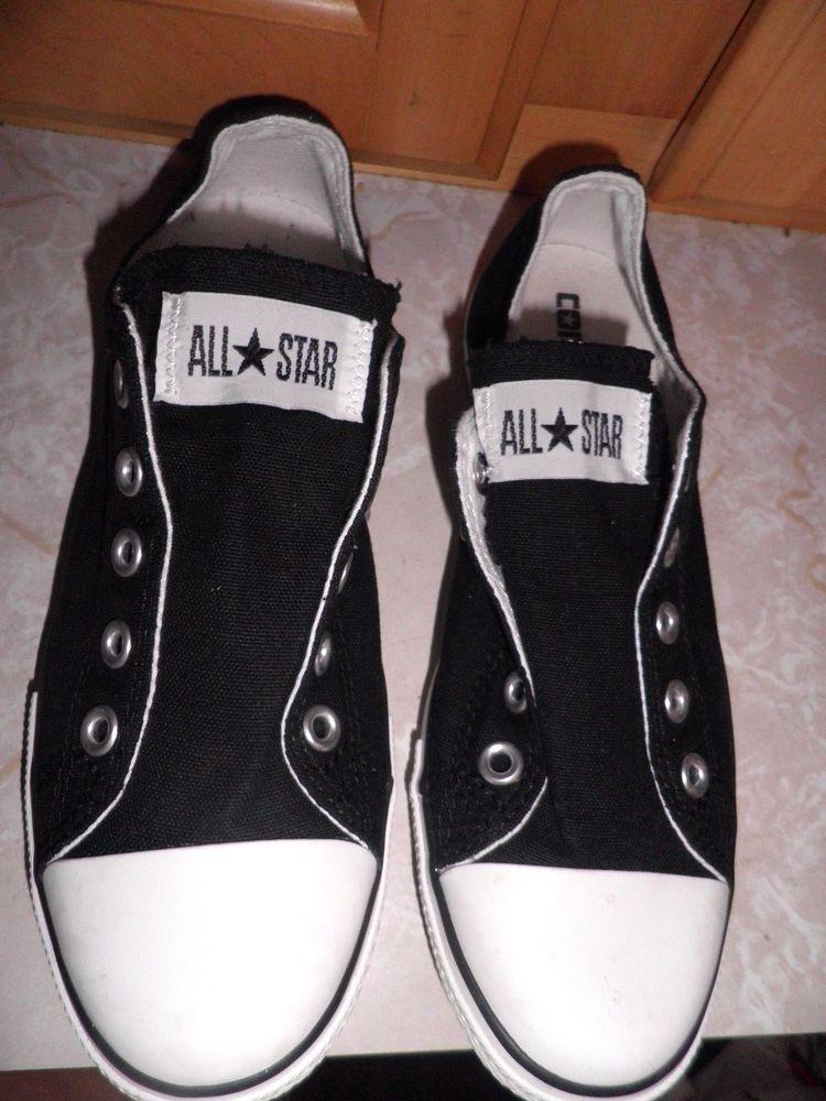 d82cde771334 Converse All Star Slim Ox Black Canvas Size Women s 6.5 Minty!  Converse   SlimOx