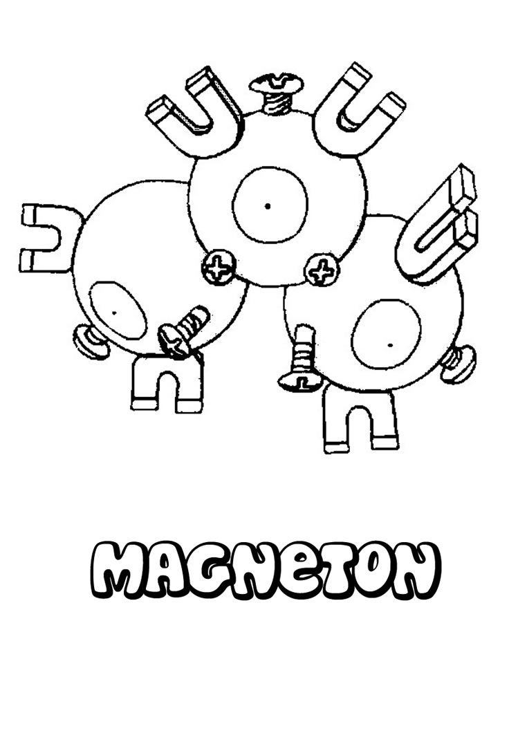 magneton pokemon coloring page jpg 749 1060 pokemon go