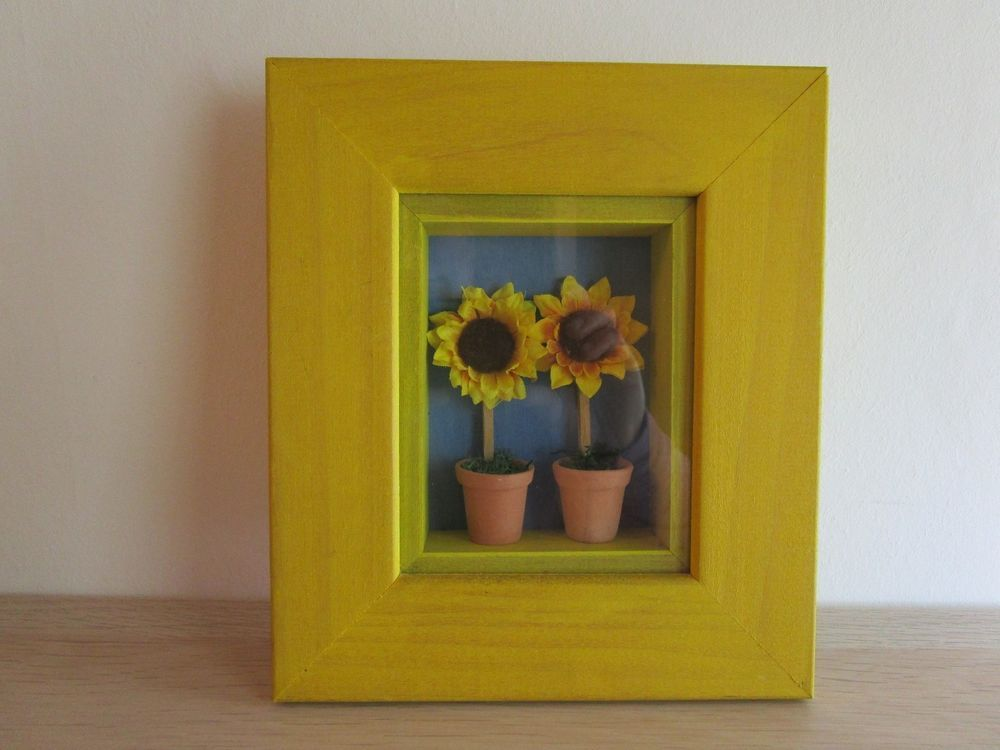 Farm/country house Picture 3d Wall Decor Wooden Shabby Yellow ...
