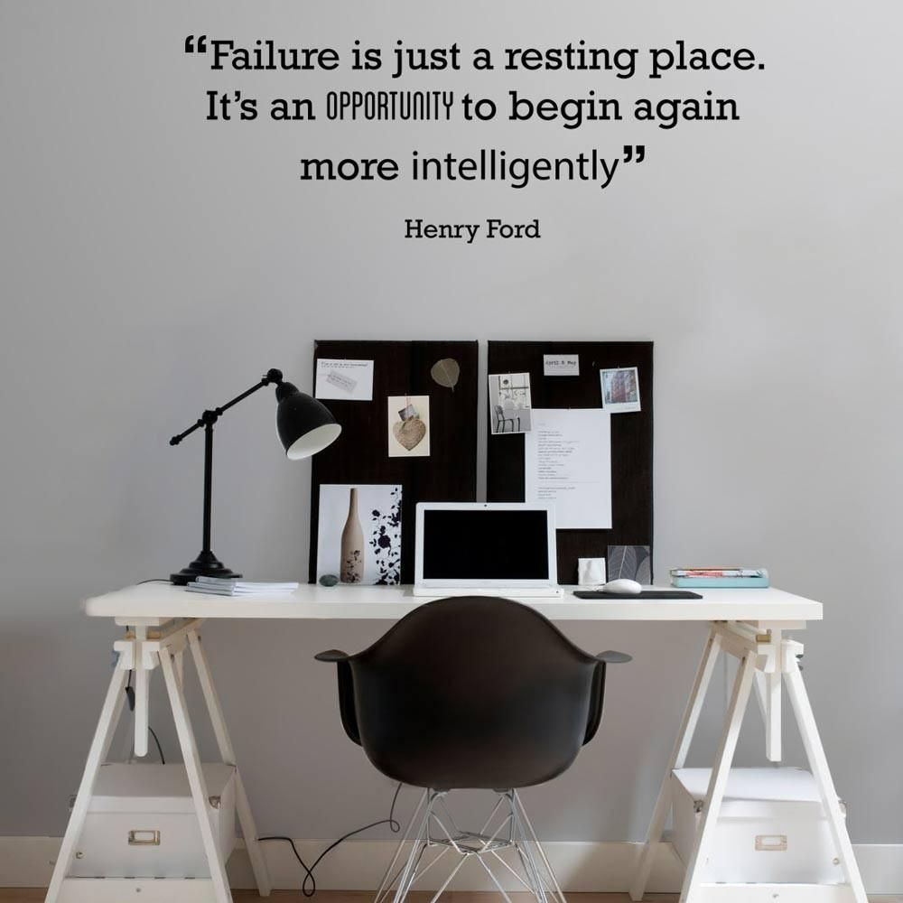 Failure is just a resting place' Motivational Quote Wall Sticker - Medium 100cm W X 36cm H