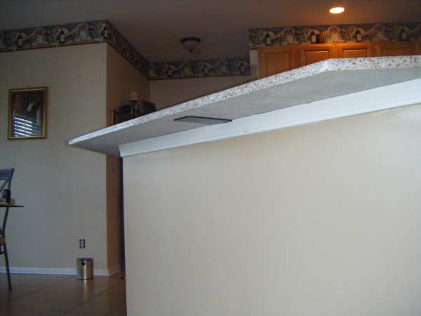 Granite Countertop Bar Tops Island Overhangs Fireplace And